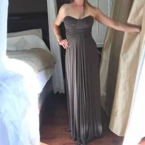 BCBG Taupe Prom Dress Evening Gown size XS - NEW